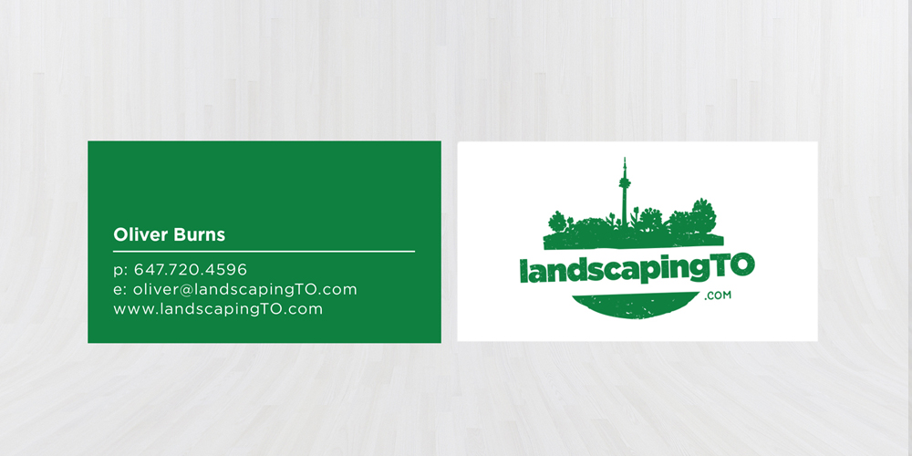 Landscaping TO Business Card
