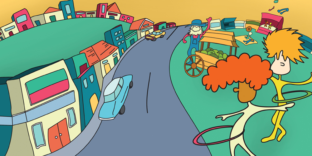 Urban Market illustrations