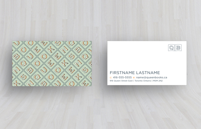 Queen Books Business Card